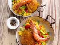 Spanish Rice with Chicken and Prawns recipe