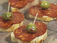 Spanish Sausage Canapes