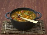 Spanish Sausage, Vegetable and Lentil Stew recipe