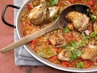 Spanish-Style Braised Chicken with Rice recipe