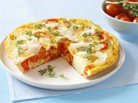 Spanish-Style Potato and Red Pepper Omelette recipe