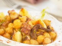 Spanish-style Seafood with Garbanzos recipe