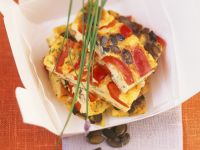 Spanish Tortilla with Bell Peppers and Pumpkin Seeds recipe