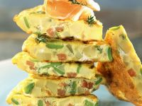 Spanish Tortilla with Green Beans and Bacon recipe