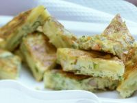 Spanish Tortilla with Shrimp recipe