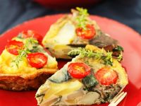 Spanish Tortilla with Tomato and Eggplant