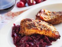 Spareribs with Cherry Compote recipe