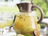 Sparkling Passion Fruit and Lime Punch recipe