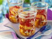 Sparkling Peach Melba recipe
