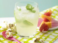 Sparkling Punch with Fruit Skewer recipe