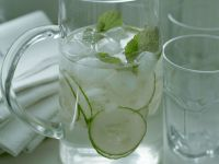 Sparkling Wine Bowl with Cucumber and Mint recipe