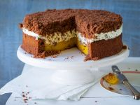 Spekulatius Cake with Orange Cream Filling recipe