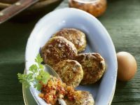 Spelt and Turnip Patties with Tomato Pesto recipe