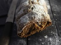 Spelt Bread with Olives recipe