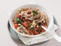 Spelt Pasta with Tomatoes, Parsley and Pine Nuts recipe