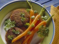 Spelt Patties with Glazed Carrots recipe
