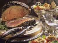 Spice-crusted Prime Rib with Vegetables recipe