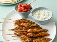 Spiced Chicken Skewers with Dip recipe