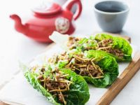 Spiced Ground Meat in Lettuce Boats recipe