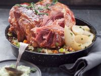 Spiced Ham with Lentils recipe