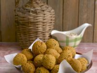 Spiced Lentil Balls with Peanut Dip recipe