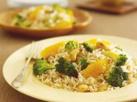 Spiced Rice with Broccoli recipe