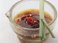 Spicy Barbecue Sauce (Soy Sauce, Honey, Sesame Oil and Ginger) recipe