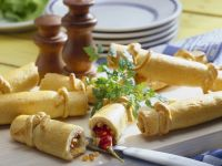 Spicy Bacon, Onion and Carrot Stuffed Rolls recipe