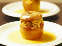Spicy Baked Apples with Sauerkraut Filling recipe