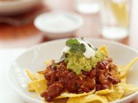 Spicy Beef with Tortilla Chips recipe