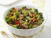 Spicy Coconut Beef Tenderloin, Corn and Red Pepper Salad recipe