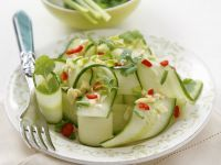 Spicy Cucumber Salad with Ginger and Cilantro recipe