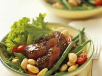 Spicy Lamb Fillet with White Bean Salad recipe