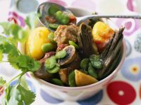 Spiced Lamb Stew with Favas recipe