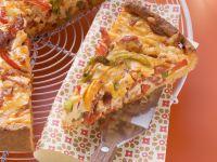 Spicy Pepper and Chorizo Cake recipe