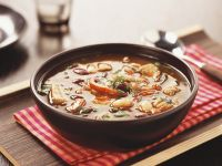 Spicy Pork Soup with Chili and Bell Pepper recipe