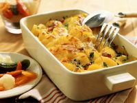 Spicy Potato Gratin with Mixed Pickles recipe