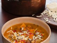 Spicy Pumpkin Soup with Chickpeas recipe