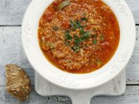 Spicy Red Lentil and Tomato Stew recipe