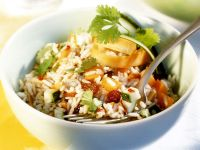 Spicy Rice and Vegetable Salad with Raisins recipe