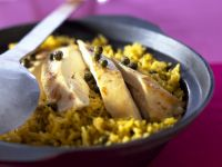 Spicy Sliced Chicken with Pilau recipe