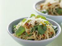 Spicy Spaghetti with Arugula and Garlic recipe