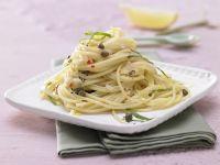 Spicy Spaghetti with Capers recipe