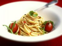Spicy Spaghetti with Cherry Tomatoes recipe