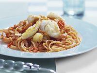 Spicy Spaghetti with Cod recipe