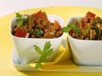 Spicy Stir-Fried Ground Beef and Peppers recipe