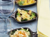 Spinach and Broccoli Raclette recipe