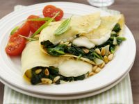Spinach and Cheese Pancakes recipe