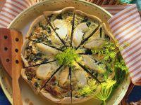 Spinach and Cod Quiche recipe