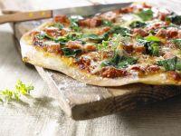 Spinach and Ham Small Pizzas recipe